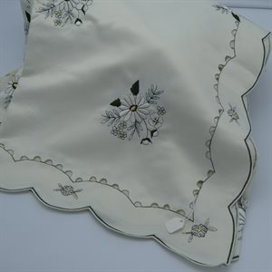 "TABLECLOTH 67X126"" IVORY WITH DAISY"