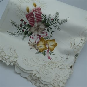 "TABLECLOTH 67X126"" IVORY"