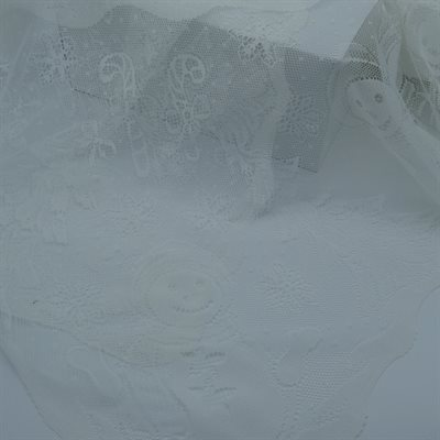 """TABLECLOTH 60""""X108""""WHITE LACE"""